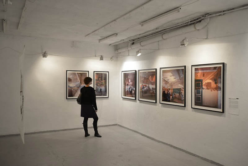 Photographic works of Darius Kuzmickas on display at FUGA, Budapest, Hungary