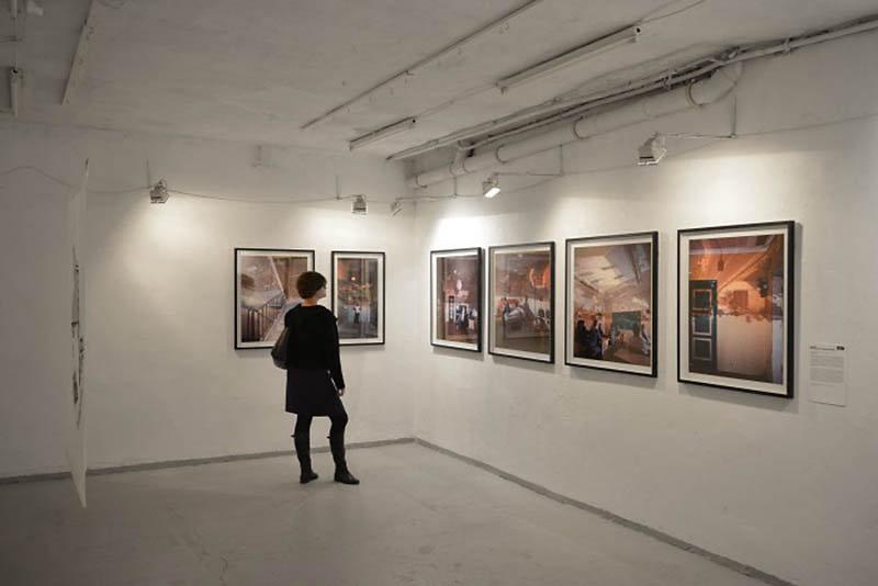 Photographic works of Darius Kuzmickas on display at FUGA, Budapest, Hungary
